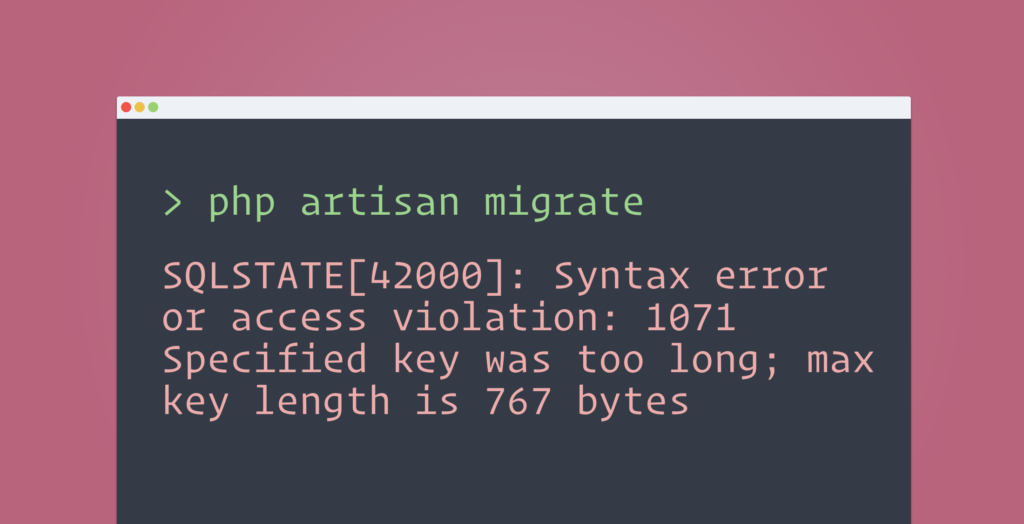 syntax-error-or-access-violation-migrate-laravel